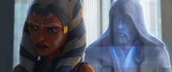 Obi-Wan unterhält sich allein mit Ahsoka