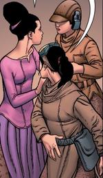 Thanya verabschiedet sich von ihren Mädchen
