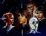Der Hinterhalt Leia Luke Chewbacca Han C-3PO