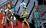 Obi-Wan bringt Rex zu Anakin