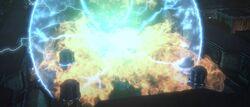 Explosion Energiegenerator Onderon