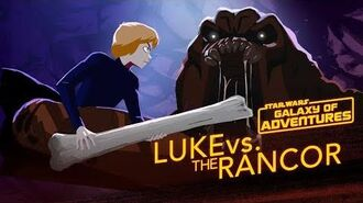 Luke vs. the Rancor - Wrath of the Rancor Star Wars Galaxy of Adventures