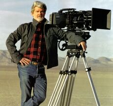 George Lucas mit Kamera
