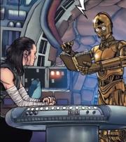C-3PO und Rey