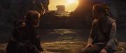 Luke redet mit Rey über die Vergangenheit