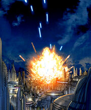 Anwesen-Explosion