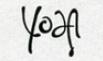 Yodas Unterschrift