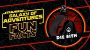STAR WARS – GALAXY OF ADVENTURES FUN FACTS Die Sith Star Wars Kids
