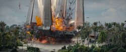 Imp. Frachter explodiert