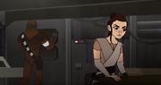 Rey und Chewie suchen den Peilsender