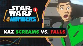 Every Time Kaz Falls and Yells in Star Wars Resistance Star Wars By the Numbers
