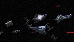 Fulcrums Flotte bei Mustafar