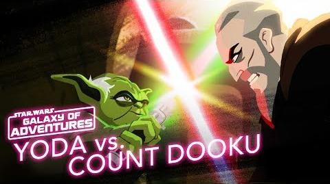 Yoda vs. Count Dooku - Size Matters Not Star Wars Galaxy of Adventures