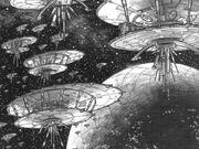 Flotte über coruscant