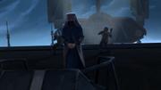 Sidious würgt Mandalorianer