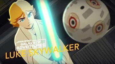 STAR WARS – GALAXY OF ADVENTURES Luke Skywalker Training mit dem Lichtschwert Star Wars Kids
