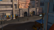 Explosion-Marktplatz