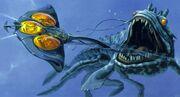 Killerfisch-Zeichnung