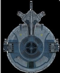 Droid-gunship detail