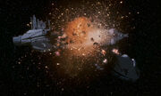 Kontrollschiff-Explosion