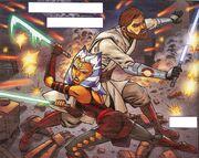 Obi Wan und Ahsoka unter Beschuß