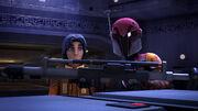 Ezra und Sabine mit Disruptor