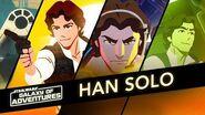 Han Solo - Captain of the Millennium Falcon Star Wars Galaxy of Adventures