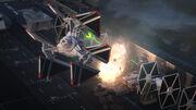 TIE-Defender-Elite schießt Laser