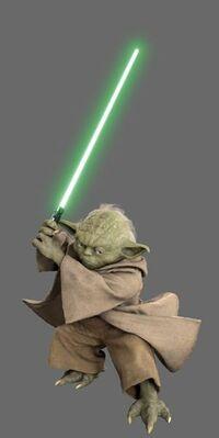 Yoda Lichtschwert Pose