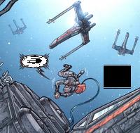 Luke im Weltraum