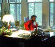 Lucas im Büro