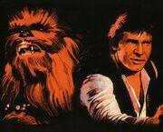 Han und Chewbacca