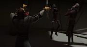 Savage Opress würgt Ventress und Dooku