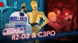 R2-D2 and C3PO - Trash Compactor Rescue Star Wars Galaxy of Adventures