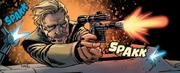 Beckett mit seiner Blasterpistole