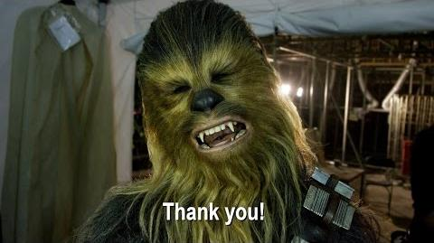Thank you from the set of Star Wars The Force Awakens!