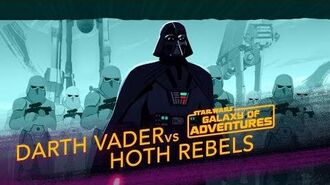 Darth Vader vs. Hoth Rebels - Crushing the Rebellion Star Wars Galaxy of Adventures