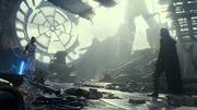Rey und Kylo Ren (Todesstern)