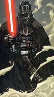 Vader mit Lichtschwert