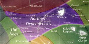 Galaktischer bereich nördliche kolonie