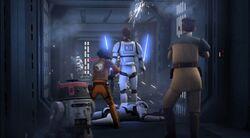 Rebellen auf der Flucht