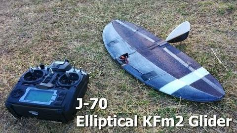 J-70 Elliptical Wing KFm SAL DLG Slope Glider