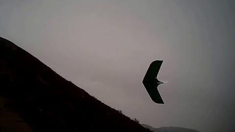 J-57 Scratchbuilt KFm RC Slope Glider at Parker Mountain Rainy Day