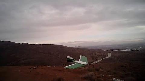 J-57 Scratchbuilt KFm RC Slope Glider Vincent Hill Rainy Day