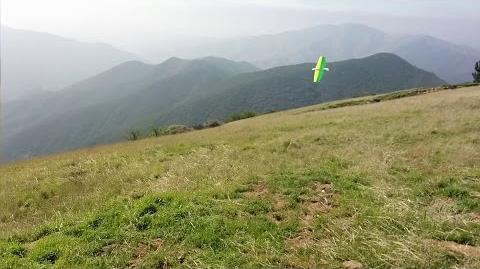 J-78 Scratchbuilt KFm Slope Plank RC Glider @ Grass Mountain