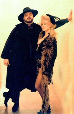 Bill Nolte as Simon Stide JEKYLL & HYDE Alley Theatre 1990 with Nita Moore as Nellie