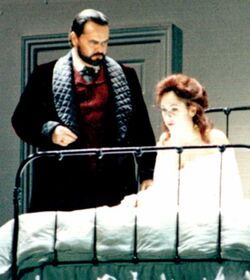 Bill Nolte as Simon Stride JEKYLL & HYDE Alley Theatre 1990 with Linda Eder