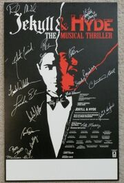 J&H Pre-Broadway Tour poster - signed by the cast