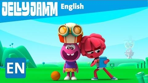 Jelly Jamm English. White Sneakers. Children's animation series. S02-E56