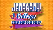 Jeopardy! College Championship Season 30 Logo